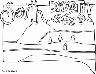 Dakota South Coloring Pages States United Classroom