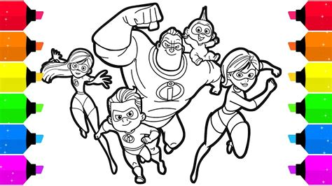 incredibles  coloring pages  kids youtube