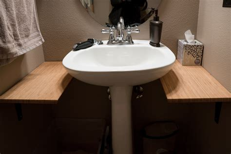 bathroom sink cover for extra counter space add counter space to small bathroom with this 18 hack