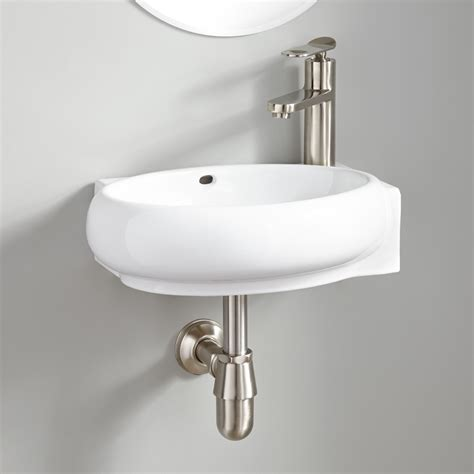 Leanne Mini Porcelain Wallmount Sink Bathroom