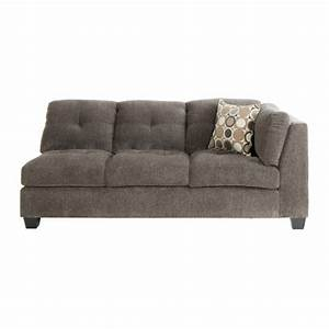 trinton sectional raf sofa in pewter jerome39s furniture With sectional sofas jerome s