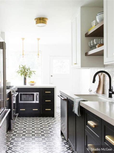 black kitchen base cabinets two tone kitchen cabinets to inspire your next redesign 4685