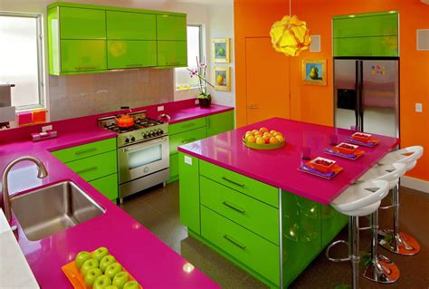 colorful kitchen decor count them bright and colorful kitchen design ideas 2344