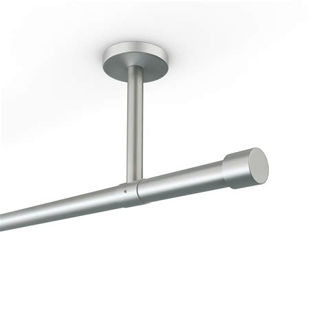 curtain rod ceiling mount stainless steel finish matt 160