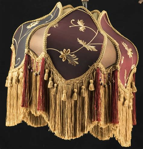 plain jane l shades victorian lamp shade uno bridge embroidered fabric silk ebay