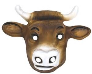 Printable Cow Face Mask