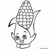 Corn Coloring Cob Shopkins Corny Printable Candy Maize Drawing Season Sheets Stalks Exclusive Shopkin Getdrawings Portal Coloriage Colouring Cartoon Fall sketch template