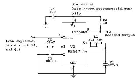 Sound Detector Tone Decoder Circuit Diagram World