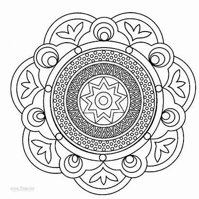 Mandala Coloring Pages Printable Cool2bkids Getdrawings Drawing