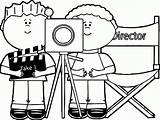 Camera Coloring Pages Film Behind Clip Drawing Directing Roll Boys Cartoon Taking Template Sheets Using Getdrawings Clipartmag Sketch sketch template