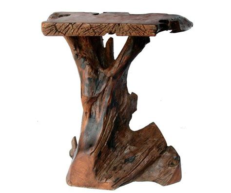 how to make a tree stump end table side table out of stump wood my style pinterest