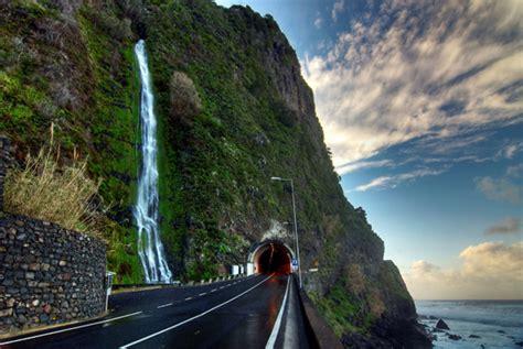 Self Adheisve Wall Murals Waterfall Scene Madeira