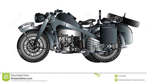 motorrad mit beiwagen deutsches motorrad mit beiwagen stock abbildung