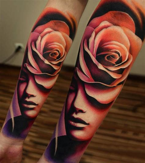 face rose tattoo tattoo tattoos rose tattoos es