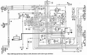 Morris Mini 1000 Wiring Diagram Electrical Schematic  58618