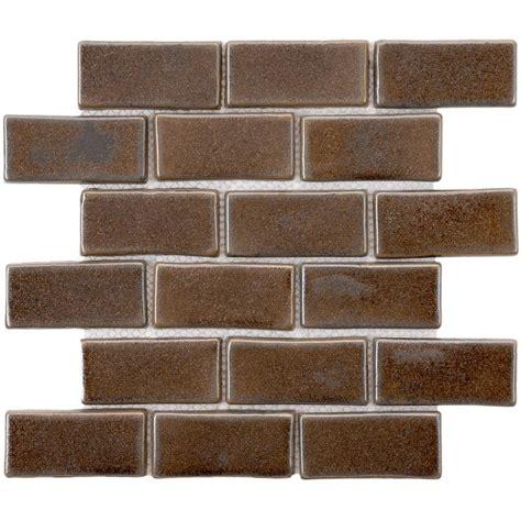 merola tile cobble subway noce 12 in x 12 in x 13 mm