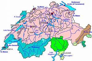 Die Wichtigsten Schweizer Gew U00e4sser  Fl U00fcsse Und Seen
