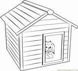 Coloring Pages Doghouse Template Dog Templates sketch template