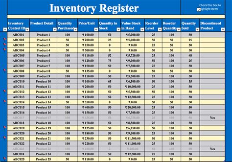 inventory management excel template   top