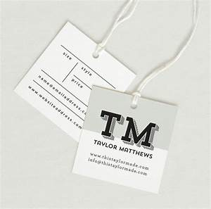 printed fabric label price tag hang tag custom clothing With clothing hang tag template