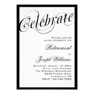 formal luncheon invitation black white retirement party invitations
