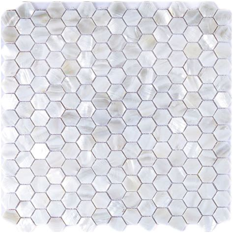 decorative tiles for kitchen backsplash river bed nature pearl shell mosaic 12 quot x 12 quot hexagon