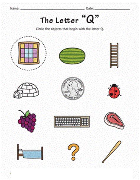 2 letter words with q letter q worksheets for kindergarten preschool and 20034 | letter q start phonics travel games preschool