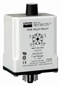 Dayton Single Function Timing Relay  120vac  Dc  10a   240v