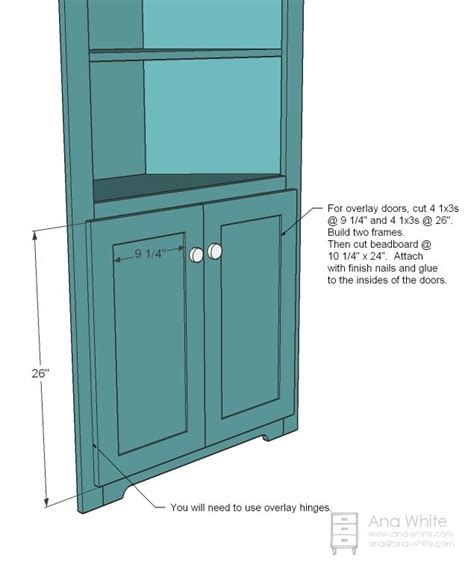 Corner Cupboard Plans by White Build A Corner Cupboard Free And Easy Diy