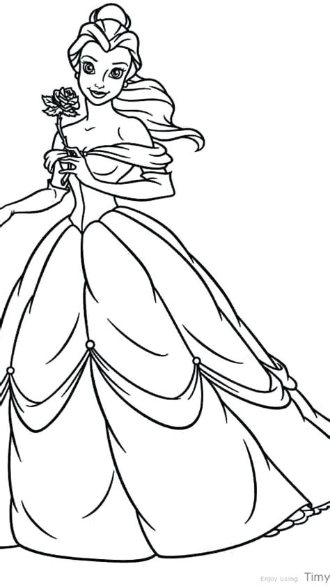 disney princess coloring pages belle  getcoloringscom