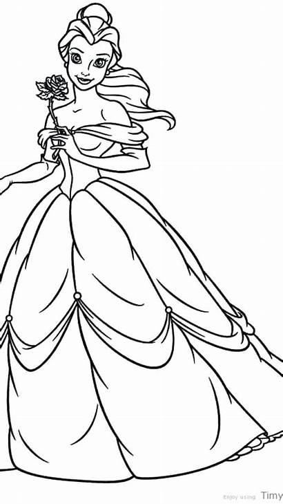 Coloring Belle Disney Pages Princess Printable Unique