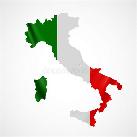 flags italian flag map stock hanging italy flag in form of map italian republic flag