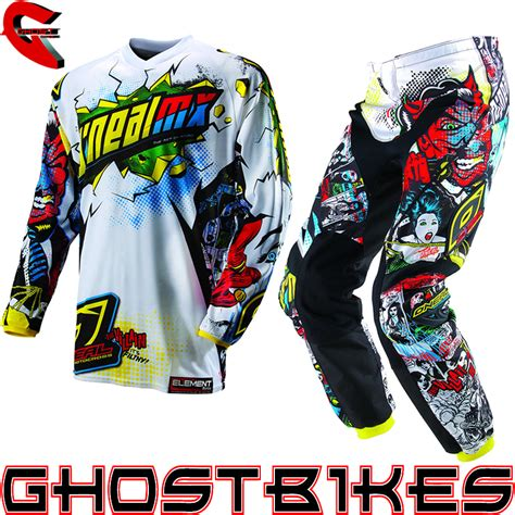 motocross jerseys and pants oneal 2013 element villain kids junior youth motocross