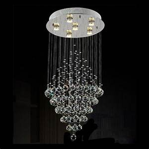 D50, H100cm, Moder, Lustre, Ceiling, Chandelier, Art, Design, Living, Room, Stair, Crystal, Fixtures, Crystal