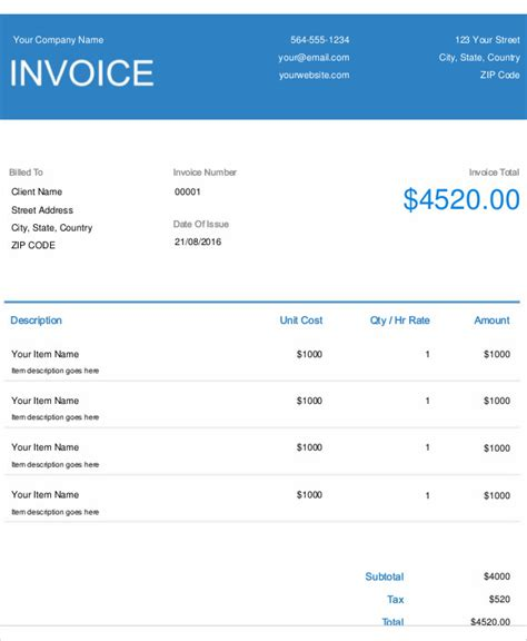 best remodeling software equipment invoice template editable invoice template excel