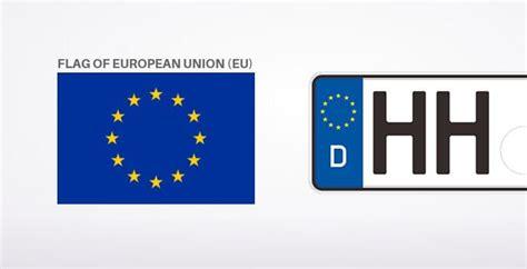 Eu Flag On Germany Car License Plate