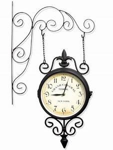 Horloge De Gare : horloge de gare avec pendule et thermom tre ~ Teatrodelosmanantiales.com Idées de Décoration