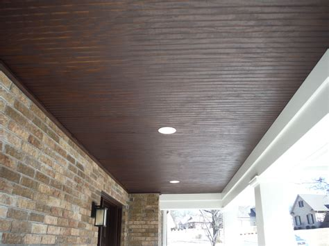Ceiling Board by Up Of The Stained Wood Custom Porch Ceiling