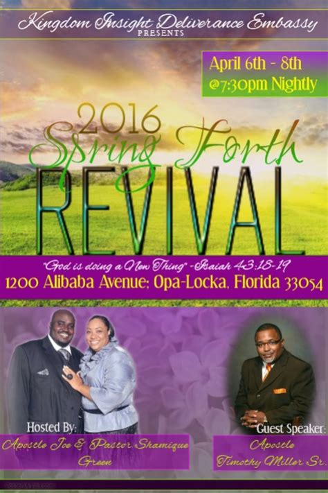 church revival flyer template free forth revival flyer template postermywall