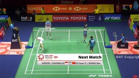 hasil drawing jadwal  badminton china open