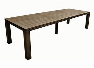 Grande Table De Jardin : grande table de jardin rectangle fiero proloisirs ~ Teatrodelosmanantiales.com Idées de Décoration
