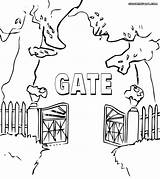 Gate Coloring Pages Template sketch template