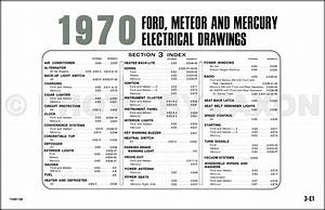 1970 Ford Mercury Wiring Diagram Original Ltd Galaxie Meteor Monterey Marauder Marquis