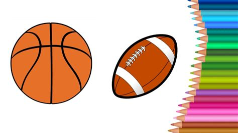 football basketball coloring pages for learn colors