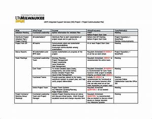 Project communication plan template free word documents for Communication documents project management