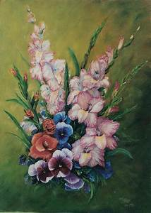 Gladioli Display Painting by Peter Jean Caley