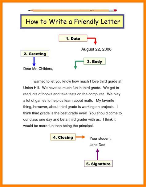 writing a letter format sle friendly letter present day capture exle of for 30755