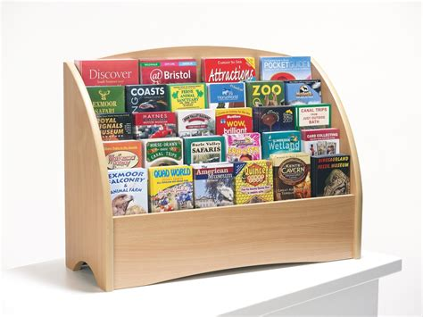 wooden counter top leaflet holder  slots  dl   wire fittings