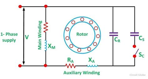 single phase capacitor start capacitor run motor wiring diagram wiring diagram and schematic