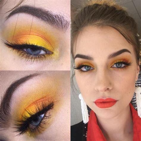 makeup artist creates stunning daytime wearable yellow
